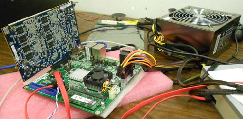 Embedded HPC board lab test