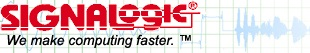 Signalogic logo, first registered in 1991.  Signalogic started in DSP (digital signal processing), an early area of processing where algorithm optimization and speed were crucial, and now offers products and services in deep learning, HPC, media and content delivery, lawful intercept, speech recognition, packet processing, and more.